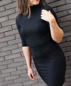 Zwart col jurkje herfst winter 2016-2017