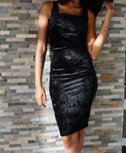 zwarte-jurk-stretch-velour