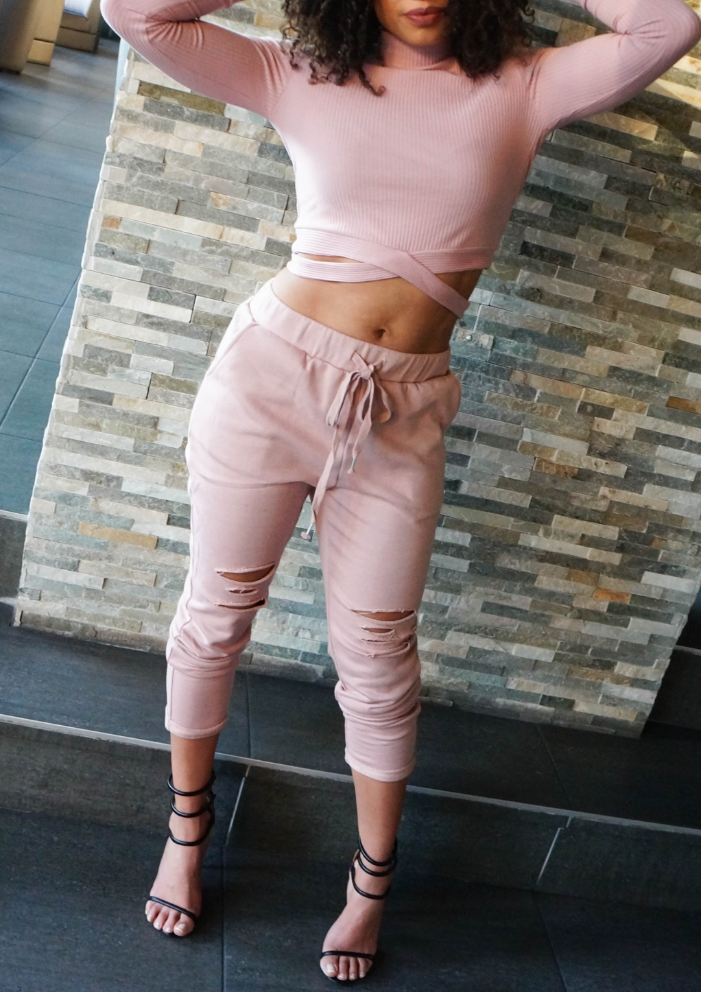 Roze two piece jogger