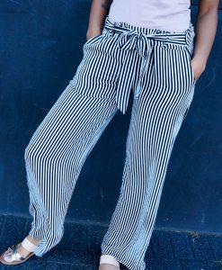 Flared pants met strepen