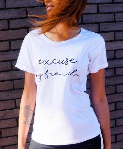 Wit t-shirt met tekst
