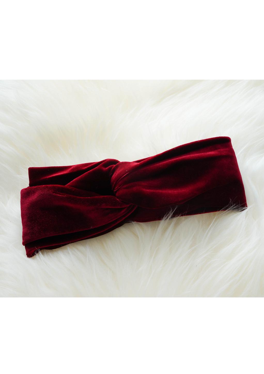 Rode haarband velvet