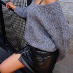 Grijze oversized trui voor de herfst