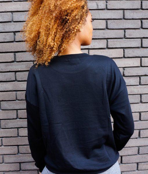 Zwarte trui met opdruk
